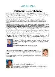 Paten für Generationen