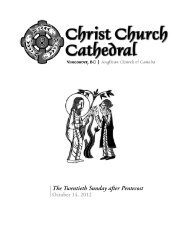 October 14, 2012 - Christ Church Cathedral Vancouver