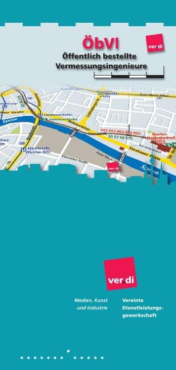 Flyer ÖbVI 2010 - Fachbereich Medien, Kunst und Industrie - Ver.di