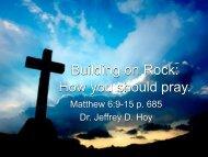 How you should Pray… - Faith Fellowship Church