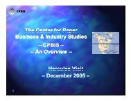 An Overview - The Center for Paper Business and Industry Studies