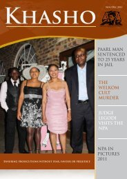 Khasho November December 2011 - National Prosecuting Authority