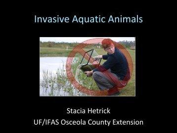 Invasive Aquatic Animals - Florida Invasive Species Partnership