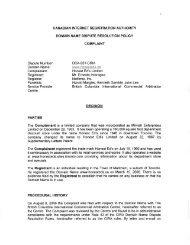 Dispute Number: DCA-931-CIRA Domain Name: Complainant ...