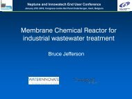 Membrane chemical reactor for industrial wastewater treatment
