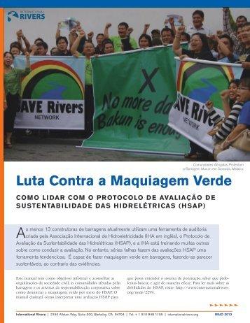 Luta Contra a Maquiagem Verde - International Rivers