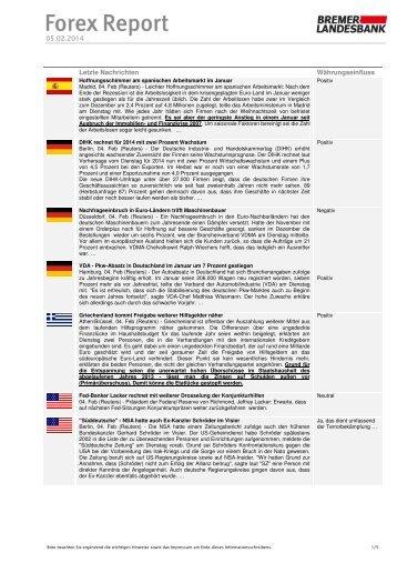 Bremer landesbank forex report