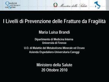 Dr.ssa Brandi - Quaderni del Ministero della Salute