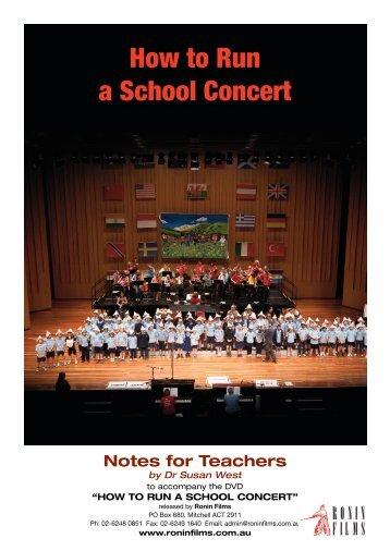 How to Run a School Concert - Ronin Films
