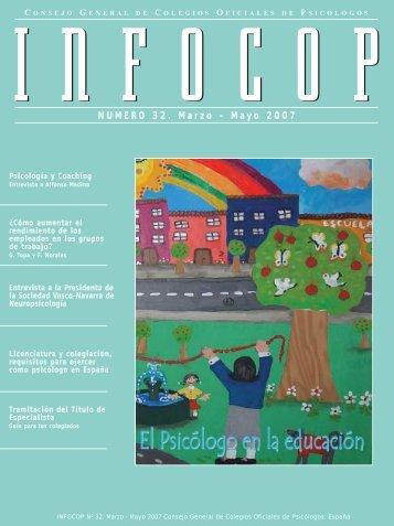 NUMERO 32. Marzo - Mayo 2007 - Consejo General de Colegios ...