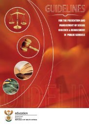 Prevention and Management of Sexual Violence ... - Thutong