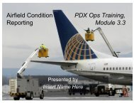 Airfield Condition Reporting; classroom presentation materials; PDF of