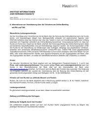 wichtige informationen zum fernabsatzgesetz - Hausbank