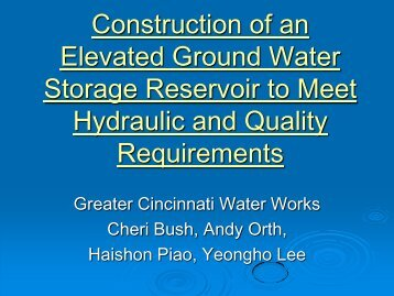 Construction of an Elevated Ground Water Storage ... - Ohiowater.org