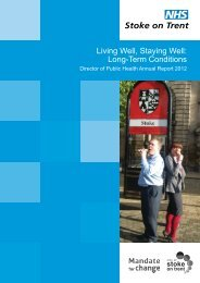 Director of Public Health Annual Report 2012 [pdf] - Stoke-on-Trent ...