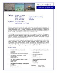 Investing in Israel Conference - 20021.PDF - Phillips Nizer LLP