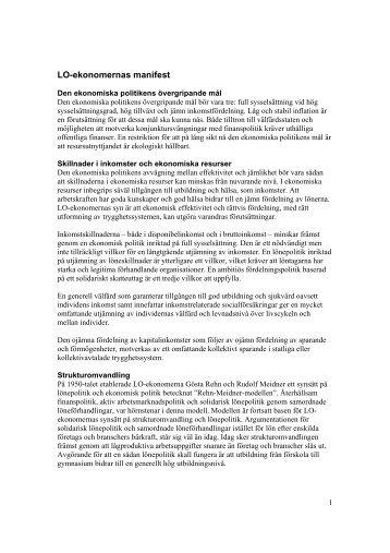 LO-ekonomernas manifest
