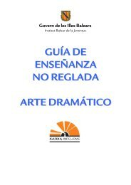 Arte dramático - Infojove - Govern de les Illes Balears
