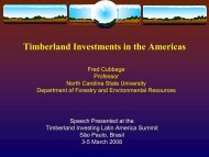 Timberland Investments in the Americas - College of Natural ...