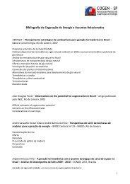 Bibliografia da Cogeração de Energia e Assuntos ... - Cogen