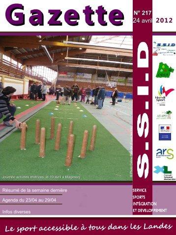 Gazette n°217 - drjscs