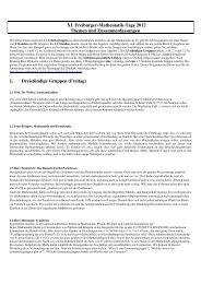 XI. Freiburger-Mathematik-Tage 2012 Themen und ...