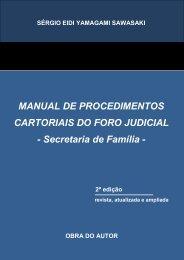 MANUAL DE PROCEDIMENTOS CARTORIAIS DO FORO ... - TJPR