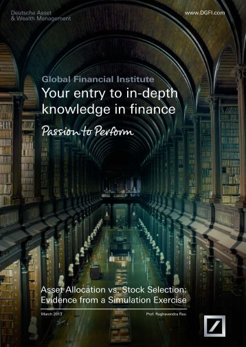 Your entry to in-depth knowledge in finance - Dws.com