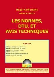 Normes, DTU et avis techniques