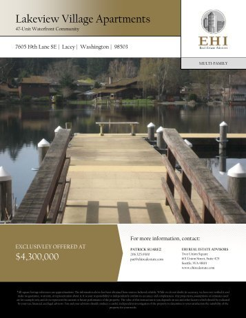 Lakeview Village Apartments - EHI Real Estate Advisors, Inc.