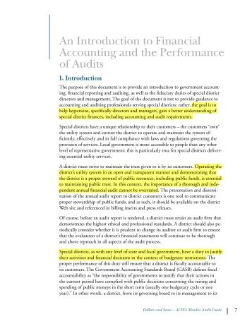 An Introduction to Financial Accounting and the Performance of Audits