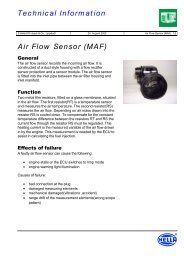 Technical Information Air Flow Sensor (MAF) - ToleranceData.com