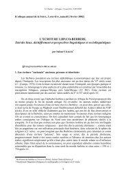 L'écriture libyco-berbère - Centre de Recherche Berbère