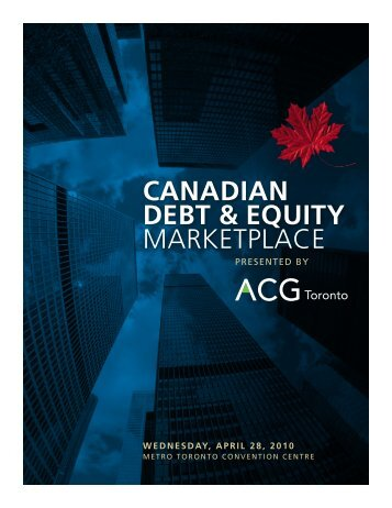 CANADiAN DEBT & EQUiTY MARKETPLACE - Association for ...