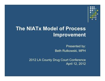 The NIATx Model of Process Improvement - UCLA Integrated ...