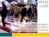 Communication of Climate Change Adaptation - Ontario Centre for ...