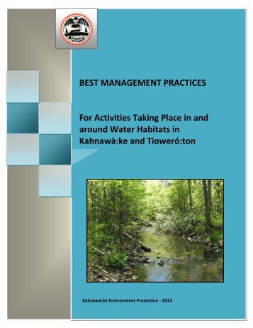 Best Management Practices for Activities Taking Place in and ...