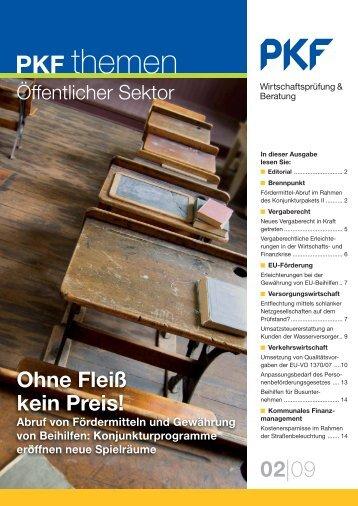 Heft 2 06/2009 Ohne Fleiß kein Preis! - PKF Fasselt Schlage
