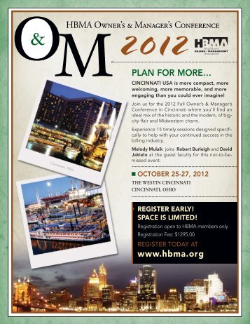to view the conference brochure - HBMA