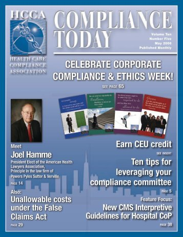 Letter from the CEo - Health Care Compliance Association