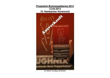 Programm Brennesselkerwe 2013 12.04.2013 16. Hambacher ...