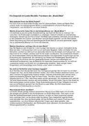 Ein Gespräch mit Leslie Mandoki, Frontmann der ... - Prittwitz & Partner