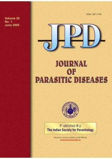 Vol 29 No 1 June 2005 - The Indian Society for Parasitology