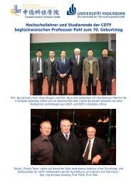 Hochschullehrer und Studierende der CDTF beglückwünschen ...