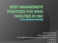 Best Management Practices for Wind Facilities in NM - New Mexico ...