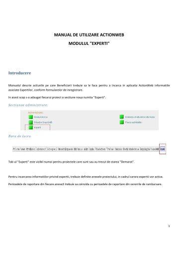 manual de utilizare actionweb modulul - Fonduri Structurale .ro