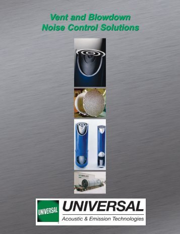 Vent and Blowdown Noise Control Solutions - Universal