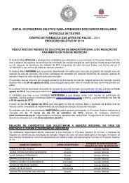 EDITAL DO PROCESSO SELETIVO PARA ... - Instituto Mais