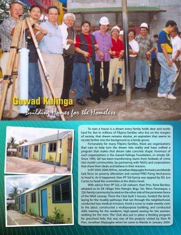 Gawad Kalinga Project - Rotary Club of Makati