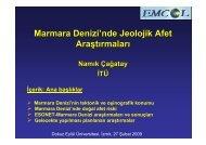 Marmara Denizi - Fen Bilimleri Enstitüsü - Dokuz Eylül Üniversitesi